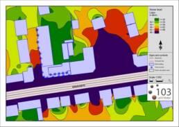 Støjmåling software 103. Støjmodel billede 103 - Støjberegninger, Støjberegning, Støjredegørelse, Støjberegning og støjredegørelse
